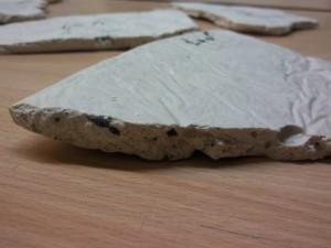 نمونه ای از سنگ رسوبی ساخته شده توسط دانش آموزان